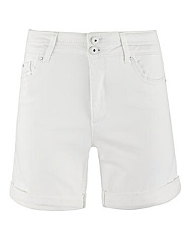 Premium Shape & Sculpt White Denim Shorts