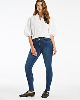 Shape & Sculpt Mid Blue Skinny Jeans