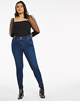 Mid Blue Shape & Sculpt Skinny Jeans
