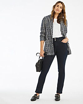 Dark Indigo Shape & Sculpt Straight Leg Jeans