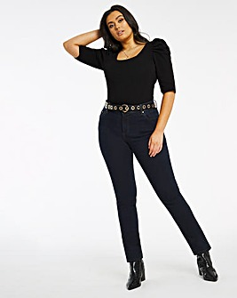 Shape & Sculpt Dark Indigo Straight Leg Jeans