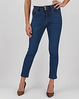 Mid Blue Shape & Sculpt Straight Leg Jeans