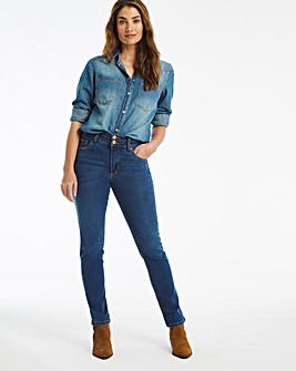 Mid Blue Shape & Sculpt Straight Leg Jeans