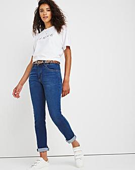Shape & Sculpt Mid Blue Straight Leg Jeans