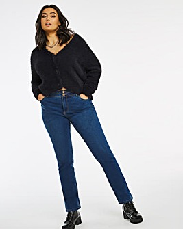 Shape & Sculpt Mid Blue Straight Leg Jeans