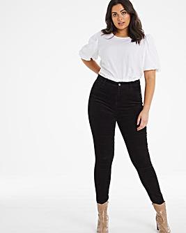 Black Cord Chloe Skinny Jeans