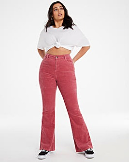 Baked Pink Cord Chloe Flare Jeans