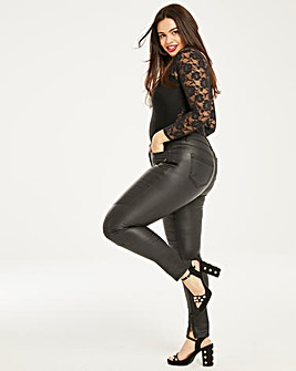 Chloe Coated Biker Skinny Jeans
