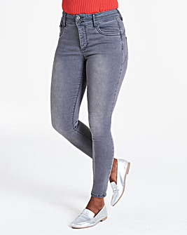 Grey Shape & Sculpt Skinny Jeans
