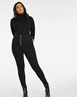 Chloe Black High Waist Corset Skinny Jeans