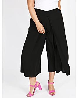 Lovedrobe GB Black Wrap Front Culottes