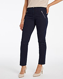 Dark Indigo Soft Touch Slim Biker Jeans
