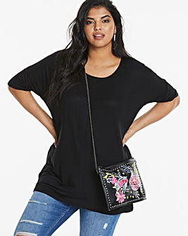 Black Oversized Boxy Top
