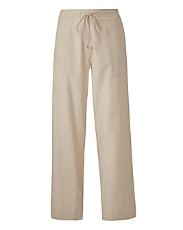 Linen Drawstring Trouser 27in