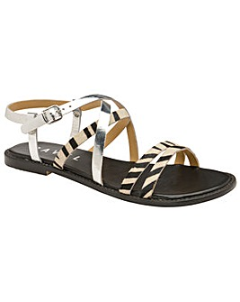 Ravel Manatee Flat Leather Sandals