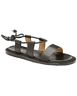 Ravel Elma Flat Leather-Strap Sandals