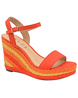 Ravel Dixie Wedge Textile Sandals