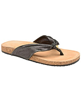 Ravel Glade Flat Leather-Strap Sandals