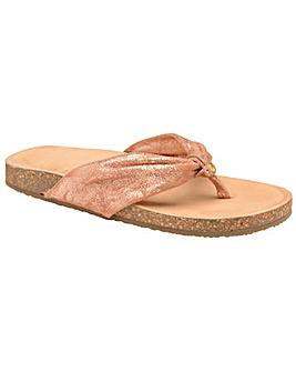 Ravel Glade Flat Leather-Strap Sandals