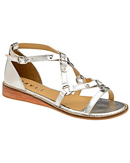 Ravel Duval Leather Wedge Sandals