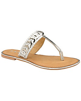Ravel Desoto Flat Leather Sandals
