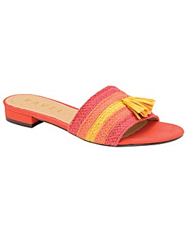 Ravel Dania Flat Textile Mule Sandals