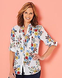 Floral Pintuck Shirt