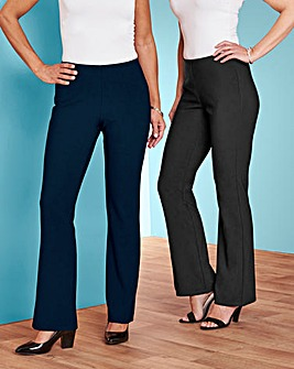 Julipa 2 Pack Ribbed Jersey Trouser 27in