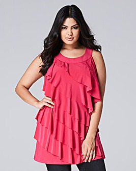 Hot Pink Ruffle Tunic