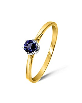 9ct Gold 0.25Ct Iolite Ring