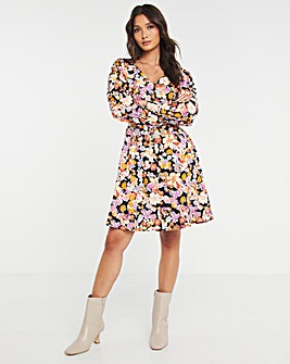 Y.A.S V-Neck Floral Wrap Dress