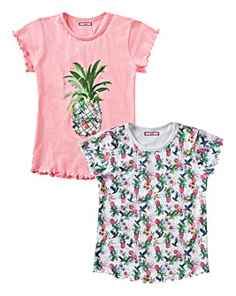 Joe Browns Girls Pack of Two T-Shirts