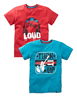 Joe Browns Boys Pack of Two T-Shirts