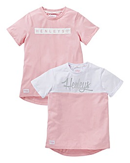 Henleys Girls Pack of Two T-Shirts