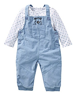 KD Baby Boy Dungaree and Long Sleeve Tee