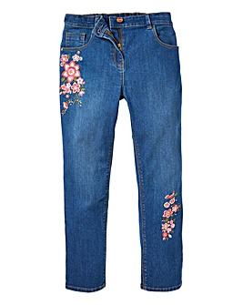 Girls Embroided Jeans