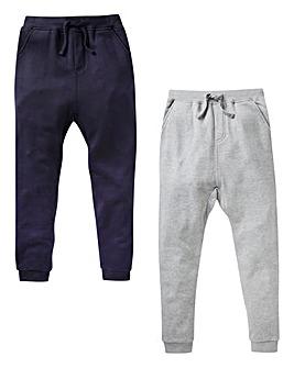 Boys Pack of Two Fleece Jog Pants