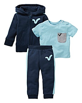 Voi Baby Boy Tracksuit and T-Shirt Set