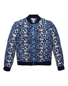 Girls Floral Bomber Jacket