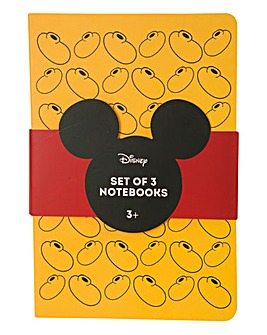 Mickey Set of 3 Notebooks