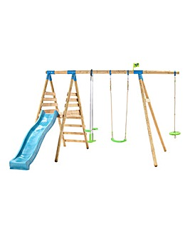 TP Galapogus Wooden Swing Set & Slide
