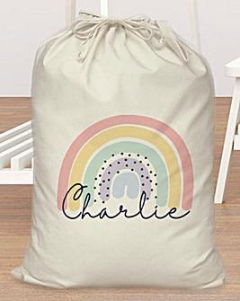 Personalised Rainbow Laundry Bag