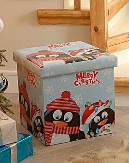 38CM X 38CM Foldable Penguin Storage Box