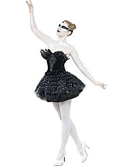 Halloween Ladies Black Gothic Swan