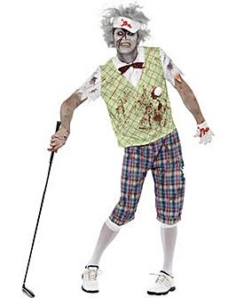 Halloween Mens Zombie Golfer Costume