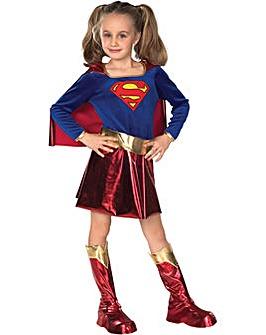 Girls Supergirl Costume + Free Gift