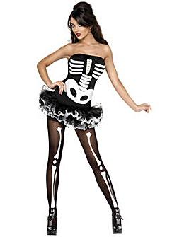 Ladies Tutu Skeleton Costume