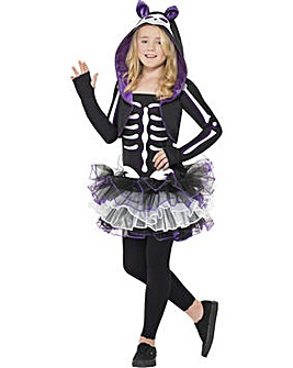 Halloween Girls Skelly Cat Costume