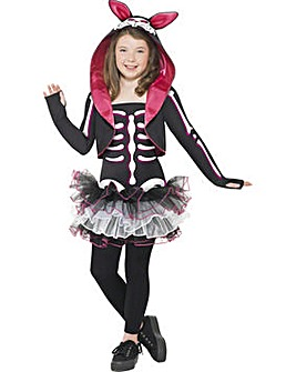 Halloween Girls Skelly Rabbit Costume