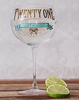 Twenty One Prohibition Gin Glass
